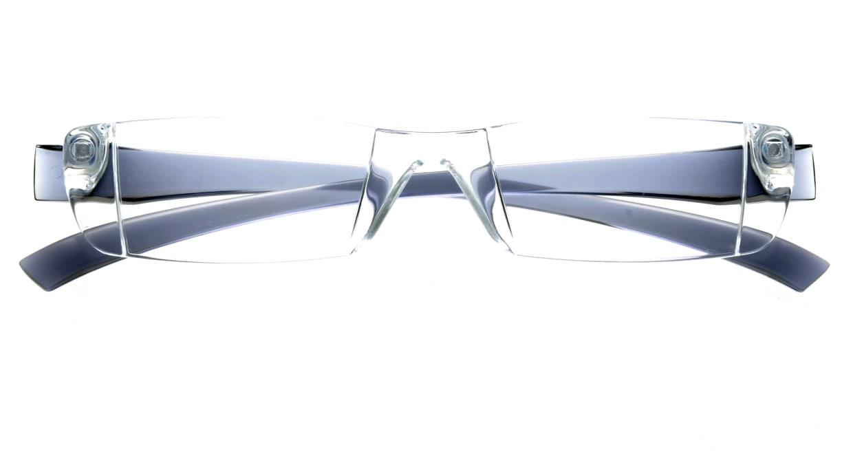 カルルック リーディンググラス +2.0 gray [老眼鏡/鯖江産/スクエア/安い/透明]  3