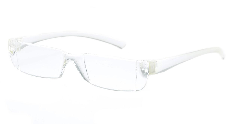 カルルック リーディンググラス +2.0 clear [老眼鏡/鯖江産/スクエア/安い/透明]