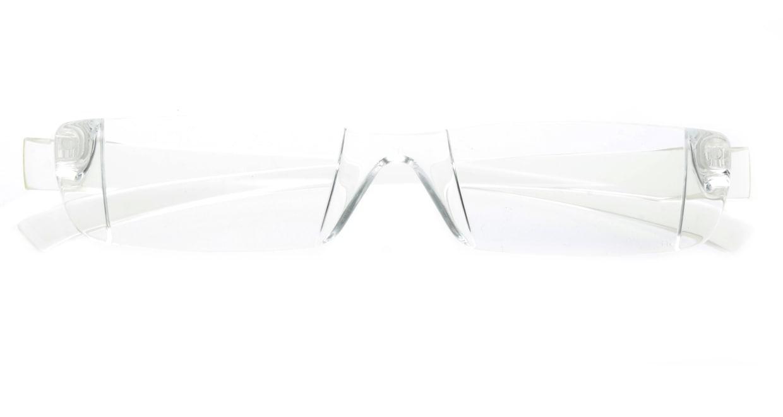 カルルック リーディンググラス +2.0 clear [老眼鏡/鯖江産/スクエア/安い/透明]  3