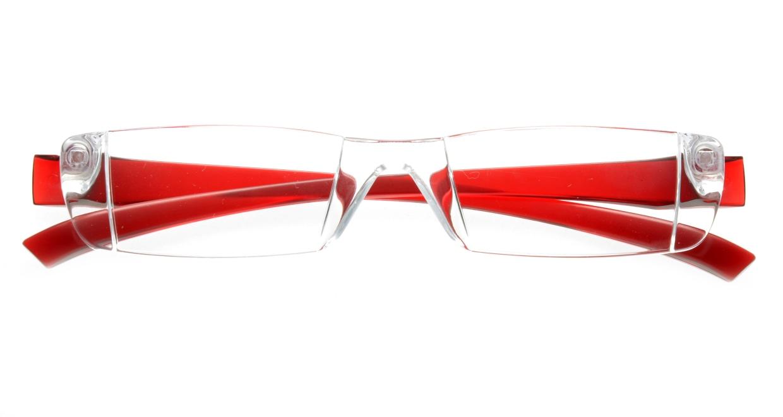 カルルック リーディンググラス +1.0 red  透明 フレーム 日本製 メガネのオーマイグラス_3