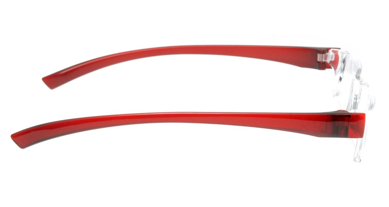 カルルック リーディンググラス +3.5 red [老眼鏡/鯖江産/スクエア/安い/透明]  1
