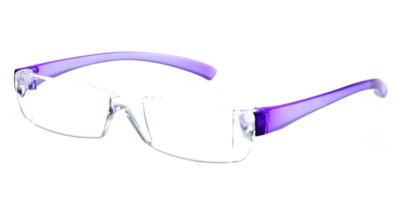 カルルック リーディンググラス +3.5 purple [老眼鏡/鯖江産/スクエア/安い/透明]