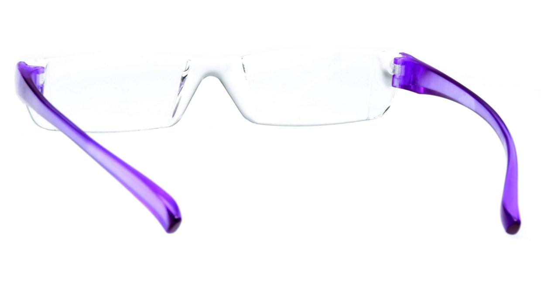 カルルック リーディンググラス +3.5 purple [老眼鏡/鯖江産/スクエア/安い/透明]  2