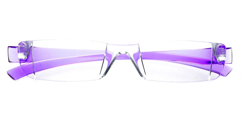 カルルック リーディンググラス +3.5 purple [老眼鏡/鯖江産/スクエア/安い/透明]  3