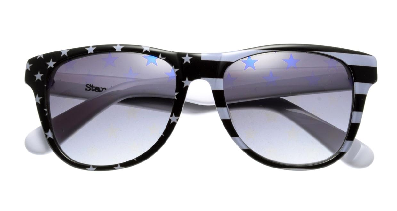 スターライツ SR-002-7 フルリム 黒 サングラス  メガネのオーマイグラス_3