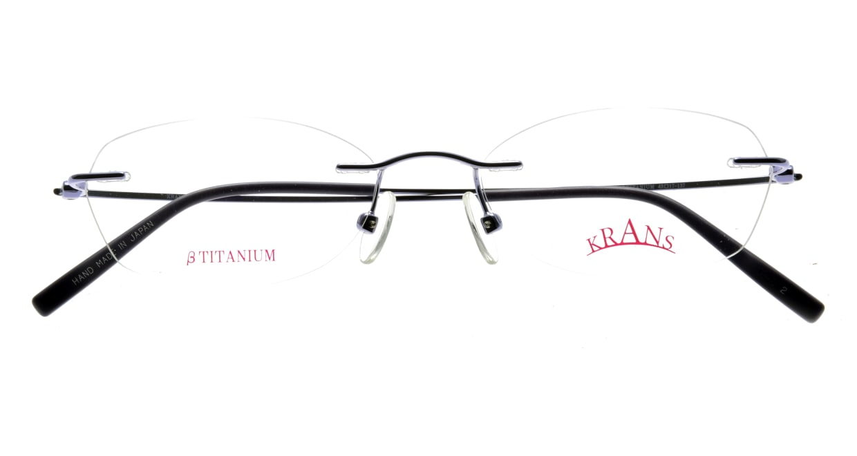 クランス KR-16313-2 [メタル/鯖江産/縁なし/オーバル/青]  3