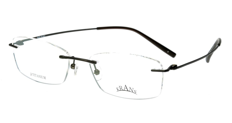 クランス KR-16314-4 縁なし グレー フレーム 日本製 メガネのオーマイグラス_0