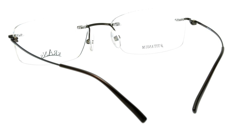クランス KR-16314-4 縁なし グレー フレーム 日本製 メガネのオーマイグラス_2