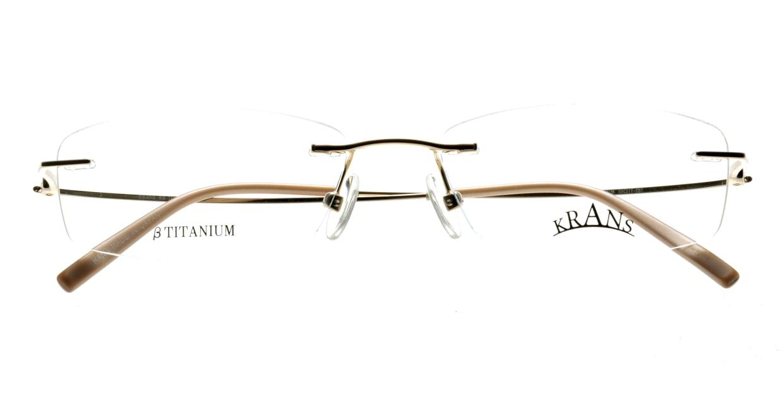 クランス KR-16315-1 [メタル/鯖江産/縁なし/スクエア/ゴールド]  3
