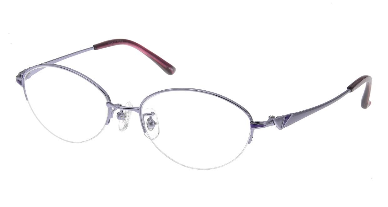 家メガネ 3120 51-C-4 [メタル/ハーフリム/オーバル/安い/紫]