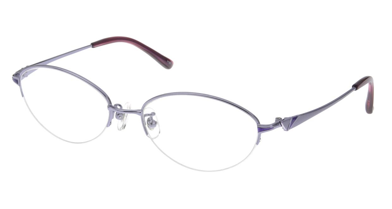 家メガネ 3120 53-C-4 [メタル/ハーフリム/オーバル/安い/紫]