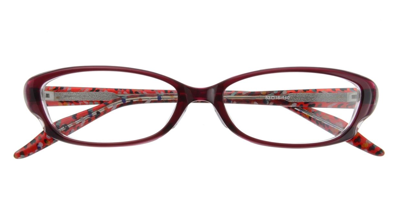 家メガネ 7821M-WN フルリム 紫 フレーム  メガネのオーマイグラス_3