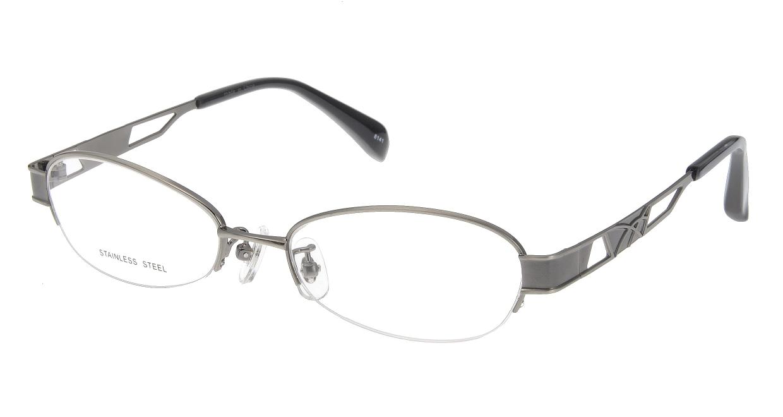 家メガネ 8141-W ハーフリム シルバー フレーム  メガネのオーマイグラス_0