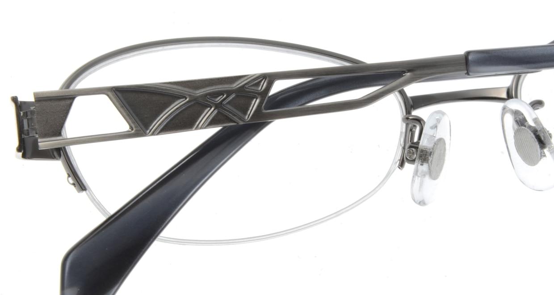家メガネ 8141-W ハーフリム シルバー フレーム  メガネのオーマイグラス_4