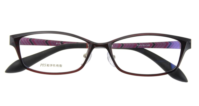 家メガネ 8170-WN フルリム 茶色 フレーム  メガネのオーマイグラス_3