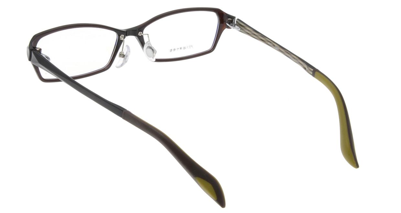 家メガネ 8171-DBR フルリム 茶色 フレーム  メガネのオーマイグラス_2