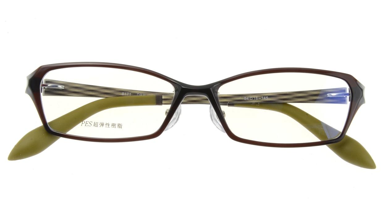 家メガネ 8171-DBR フルリム 茶色 フレーム  メガネのオーマイグラス_3