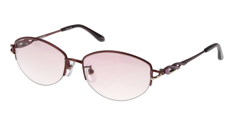 家メガネ G-701-C-4 ハーフリム 赤 サングラス  メガネのオーマイグラス_0