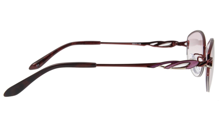 家メガネ G-701-C-4 ハーフリム 赤 サングラス  メガネのオーマイグラス_1