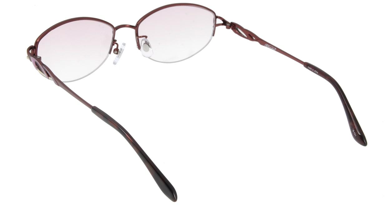 家メガネ G-701-C-4 ハーフリム 赤 サングラス  メガネのオーマイグラス_2
