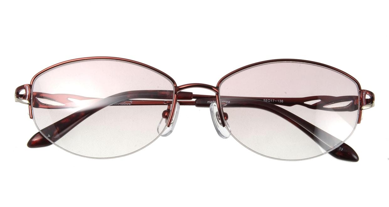 家メガネ G-701-C-4 ハーフリム 赤 サングラス  メガネのオーマイグラス_3