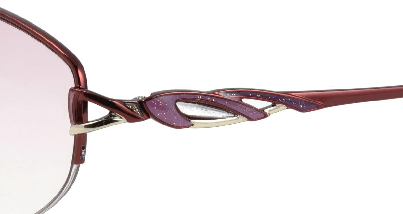 家メガネ G-701-C-4 ハーフリム 赤 サングラス  メガネのオーマイグラス_4