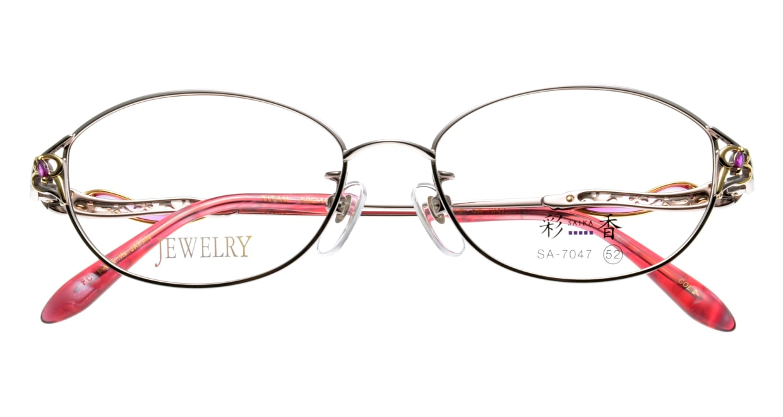 彩香 SA-7047-2 フルリム ピンク フレーム 日本製 メガネのオーマイグラス_3