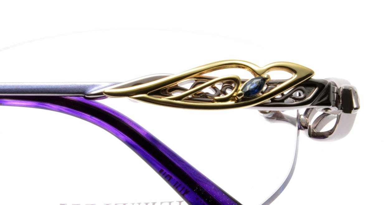 彩香 SA-7050-3 [メタル/鯖江産/縁なし/ウェリントン/紫]  4