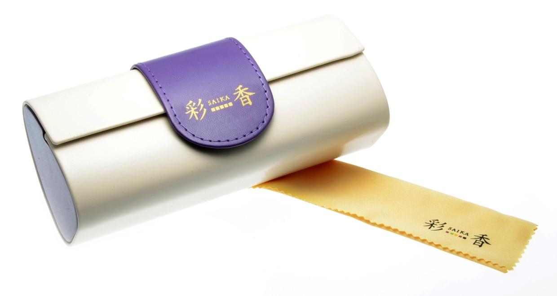 彩香 SA-7050-3 [メタル/鯖江産/縁なし/ウェリントン/紫]  5