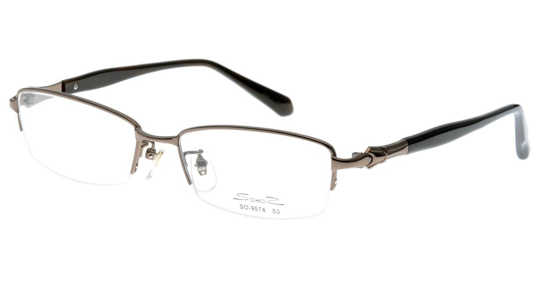 家メガネ SO-9574-1 ハーフリム 茶色 フレーム  メガネのオーマイグラス_0