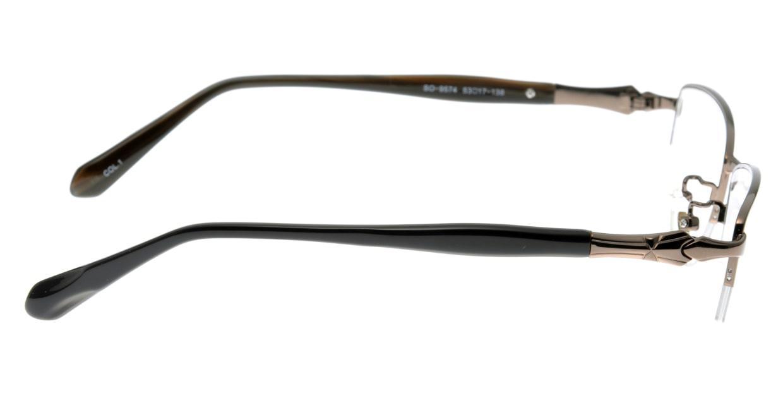 家メガネ SO-9574-1 ハーフリム 茶色 フレーム  メガネのオーマイグラス_1
