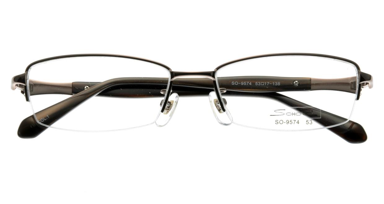 家メガネ SO-9574-1 ハーフリム 茶色 フレーム  メガネのオーマイグラス_3