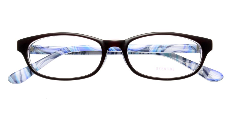 家メガネ EB-7072-3 フルリム 紫 フレーム  メガネのオーマイグラス_3