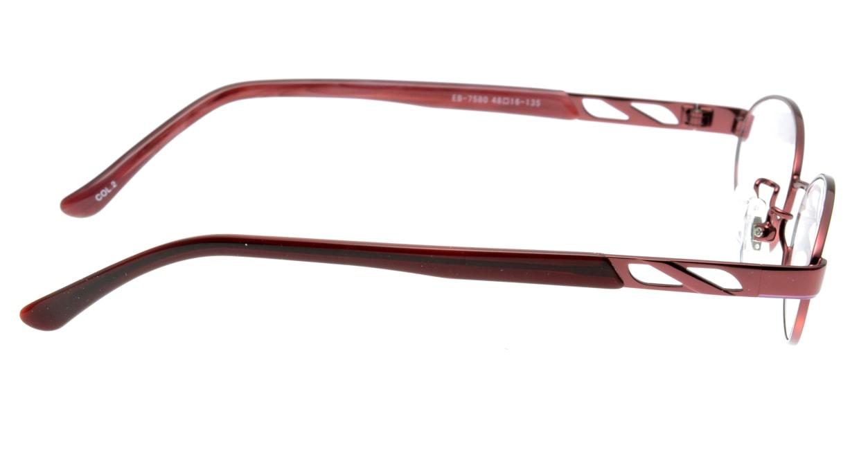 家メガネ EB-7580-2 フルリム 赤 フレーム  メガネのオーマイグラス_1