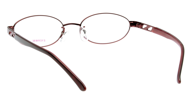 家メガネ EB-7580-2 フルリム 赤 フレーム  メガネのオーマイグラス_2