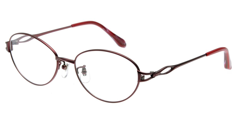 家メガネ KS-2041-3 [メタル/オーバル/安い/赤]