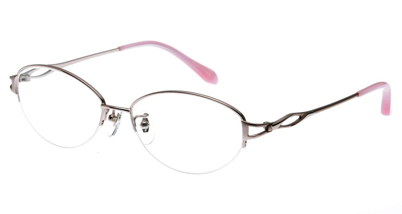家メガネ KS-2042-2 [メタル/ハーフリム/オーバル/安い/ピンク]