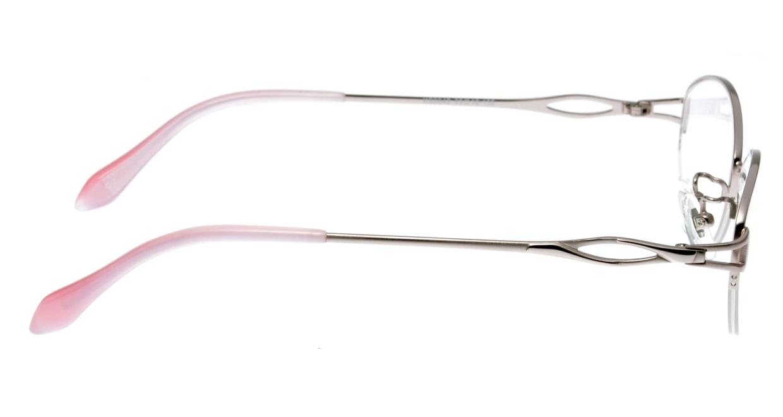 家メガネ KS-2042-2 [メタル/ハーフリム/オーバル/安い/ピンク]  1