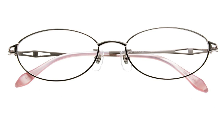 家メガネ KS-2044-2 [メタル/オーバル/安い/ピンク]  3