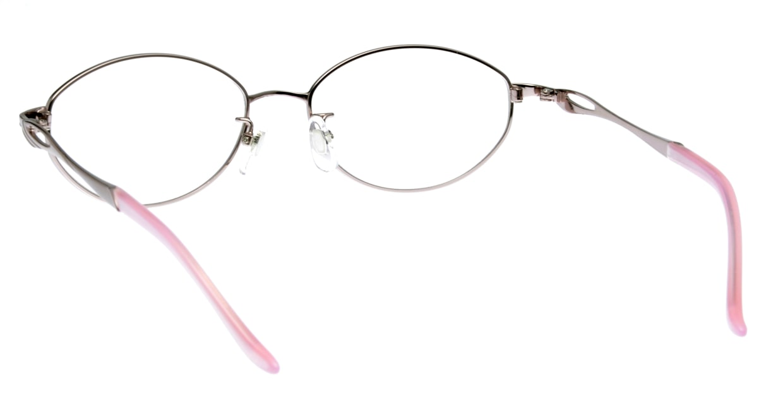 家メガネ KS-2045-2 [メタル/オーバル/安い/ピンク]  2