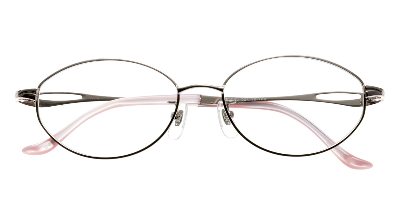 家メガネ KS-2045-2 [メタル/オーバル/安い/ピンク]  3