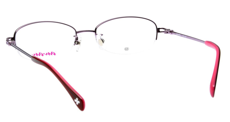 アンアン AA1127-2 ハーフリム 紫 フレーム  メガネのオーマイグラス_2