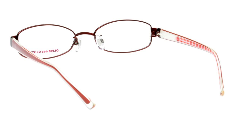 オリーブ・デ・オリーブ ODH034-2 フルリム 赤 フレーム  メガネのオーマイグラス_2