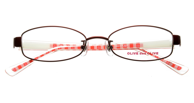 オリーブ・デ・オリーブ ODH034-2 フルリム 赤 フレーム  メガネのオーマイグラス_3