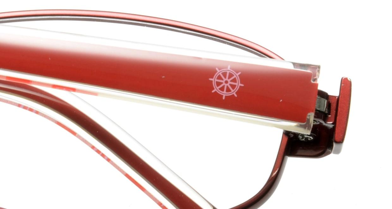オリーブ・デ・オリーブ ODH034-2 フルリム 赤 フレーム  メガネのオーマイグラス_4