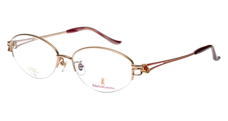 ロベルタ・ディ・カメリーノ RB1086-1 ハーフリム 茶色 フレーム  メガネのオーマイグラス_0