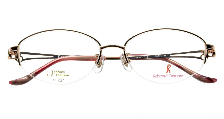ロベルタ・ディ・カメリーノ RB1086-1 ハーフリム 茶色 フレーム  メガネのオーマイグラス_3
