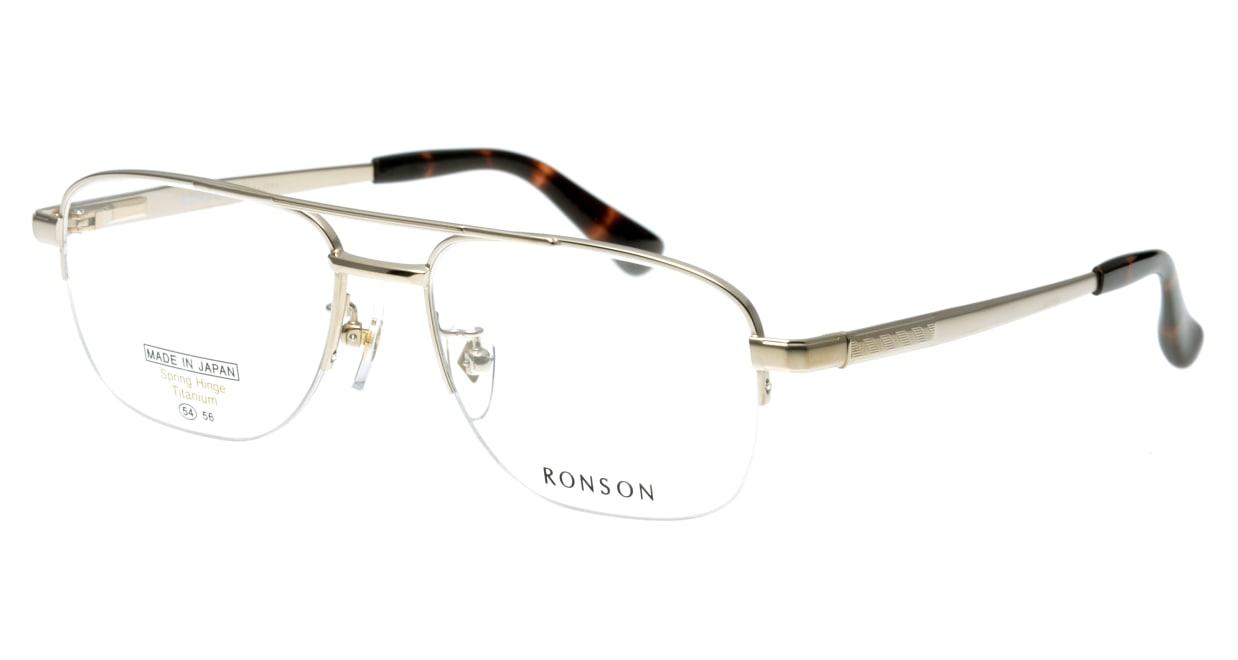 ロンソン RS1035-1 [メタル/鯖江産/ハーフリム/スクエア/ゴールド]