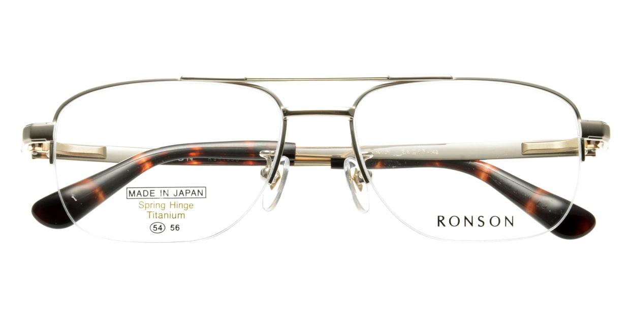 ロンソン RS1035-1 [メタル/鯖江産/ハーフリム/スクエア/ゴールド]  3