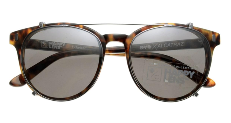 スパイ ALCATRAZ-DESERT TORT 偏光ミラーレンズ フルリム べっ甲柄 フレーム  メガネのオーマイグラス_3